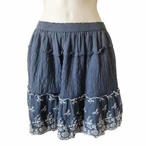 Abercrombie & Fitch Skirt Blue Floral S New